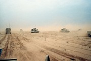 Operation Desert Storm Framed Prints - Abrams Tanks Of The 1st Armored Framed Print by Everett