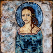 Devotional Paintings - Abrienda by Rain Ririn