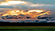 Montana Digital Art - Absaroka Sunset by Ellen Lacey
