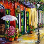 New Orleans Oil Paintings - Absinthe Anyone by Beata Sasik