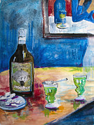 Alcohol Mixed Media Posters - Absinthe For Two Poster by Ginette Fine Art LLC Ginette Callaway