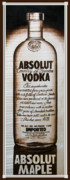 Bottle Pyrography - Absolut Maple by Dino Muradian