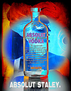 Bottle Cap Mixed Media Framed Prints - Absolut Psychedelic Framed Print by Chuck Staley