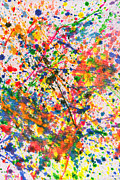 Characteristic Prints - Abstract - Crayon - Mardi Gras Print by Mike Savad