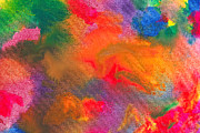 Merged Prints - Abstract - Crayon - Melody Print by Mike Savad