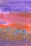 Wonderment Prints - Abstract - Guash - Lovely meadows 2 of 2 Print by Mike Savad
