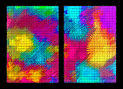 Paint Splashes Prints - Abstract - Ripples Diptych Print by Steve Ohlsen