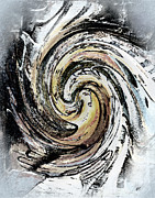 Abstract Greeting Cards Posters - Abstract - Turmoil Poster by Gerlinde Keating - Keating Associates Inc