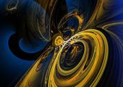 Fractal Flame Prints - Abstract 060910 Print by David Lane