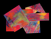 Geometric Pastels Prints - Abstract 1 Print by Mary Zimmerman