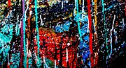 Acrylic Mixed Media Abstract Collage Metal Prints - Abstract 12 Metal Print by John  Nolan