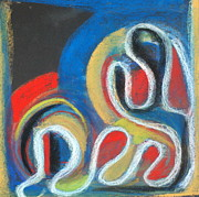 Figures Pastels - Abstract 14 by Sandra Conceicao