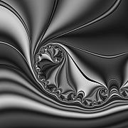 Abstract 153 Bw Print by Rolf Bertram