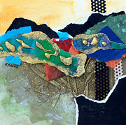 Multimedia Mixed Media Prints - Abstract 2011 No.1 Print by Kathy Braud