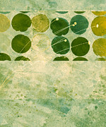 Moss Green Digital Art Prints - Abstract 207 Print by Ann Powell