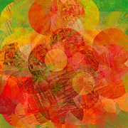 Digital Collage Prints - Abstract 210 Print by Ann Powell
