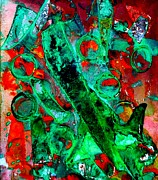 Acrylic Mixed Media Abstract Collage Metal Prints - Abstract 29 Metal Print by John  Nolan