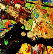 Acrylic Mixed Media Abstract Collage Art - Abstract 54 by John  Nolan