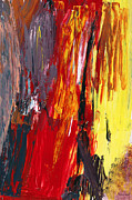 Yellows Posters - Abstract - Acrylic - Rising power Poster by Mike Savad