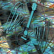Music Art - Abstract Air Guitar by Daryl Macintyre