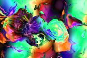 Abstract-aqua Mood Print by Patricia Motley