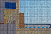 Mosaic Digital Art Prints - Abstract Architecture - Mosaic Print by Peter  McIntosh