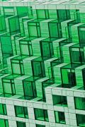 Abstract Architecture In Green Print by Mark Hendrickson
