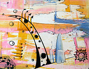 Bubbles Drawings Prints - Abstract Arrows 1 Print by Jera Sky