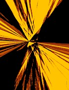 Shape Digital Art - Abstract Art in Brown and Yellow by Mario  Perez