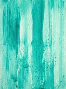 Abstract Art Original Decorative Painting Aqua Passion By Madart Print by Megan Duncanson