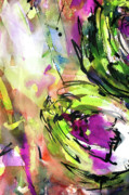 Organic Paintings - Abstract Arti 3 by Ginette by Ginette Fine Art LLC Ginette Callaway
