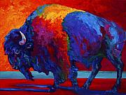 Animal Painting Prints - Abstract Bison Print by Marion Rose