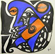 Jimmy King - Abstract Blue And Orange...