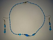 Plastic Jewelry - Abstract Blue  by Karen Jensen