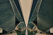 Esplanade Outdoors Posters - Abstract bridge  Poster by Panupong Roopyai