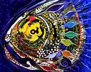 Scarpace Prints - Abstract Busy Bee Fish Print by J Vincent Scarpace