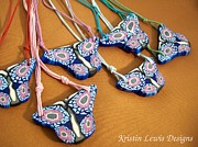 Woman Gift Jewelry - Abstract Butterfly by Kristin Lewis