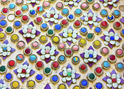 Colorful Art Ceramics - Abstract ceramic wall background by Wetchawut Masathianwong