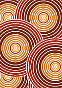 70s Drawings - Abstract Circles by Frank Tschakert
