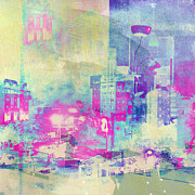 Beauty Mark Acrylic Prints - Abstract City Acrylic Print by Mark-Meir Paluksht