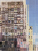 Los Angeles Mixed Media Prints - Abstract City Too Print by Russell Pierce