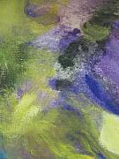 Close Up Floral Painting Prints - Abstract close up 1 Print by Anita Burgermeister