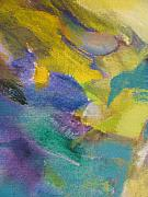 Close Up Floral Painting Prints - Abstract close up 13 Print by Anita Burgermeister