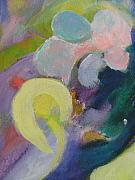 Close Up Floral Painting Prints - Abstract close up 15 Print by Anita Burgermeister