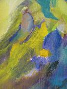 Close Up Floral Painting Prints - Abstract close up 2 Print by Anita Burgermeister