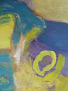 Close Up Floral Painting Prints - Abstract close up 4 Print by Anita Burgermeister