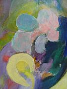 Close Up Floral Painting Prints - Abstract close up 6 Print by Anita Burgermeister