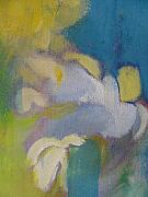 Close Up Floral Painting Prints - Abstract close up 7 Print by Anita Burgermeister
