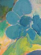 Close Up Floral Painting Prints - Abstract close up 9 Print by Anita Burgermeister