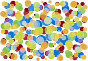 Circle Painting Posters - Abstract Color Poster by Frank Tschakert